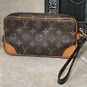Authentic Louis Vuitton Monogram Draggone Clutch